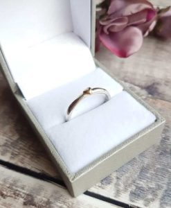 Sterling Silver & 9ct Solid Gold Heart Ring