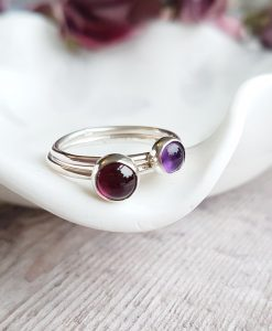 "Sterling Silver ""Berry"" Stacking Ring Set"