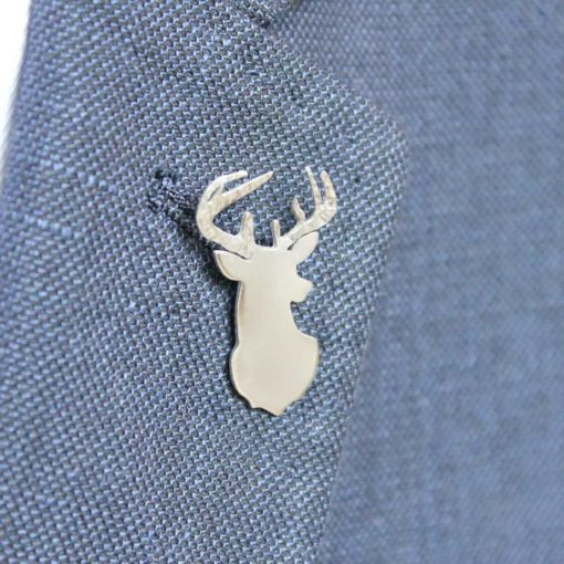 Sterling Silver Stag Tie/Jacket Pin