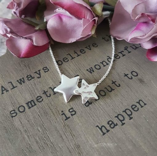Sterling Silver Twin Star Necklace