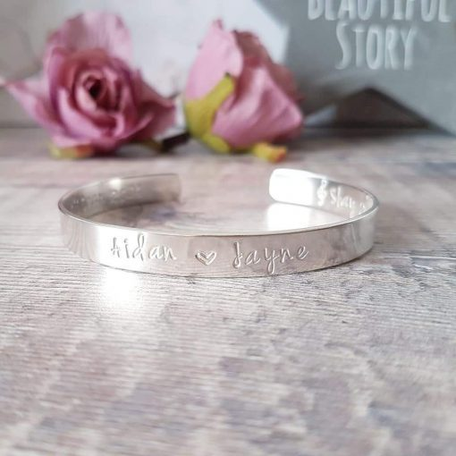 Sterling Silver Cuff - Personalised
