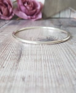 Sterling Silver Octagon Bangle