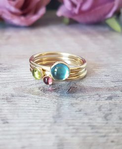 Cornwall Stacking Ring Set 9ct Gold