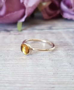 9ct Solid Yellow Gold Stacking Ring 6mm