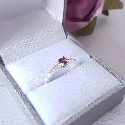 Round Solitaire Gemstone Ring