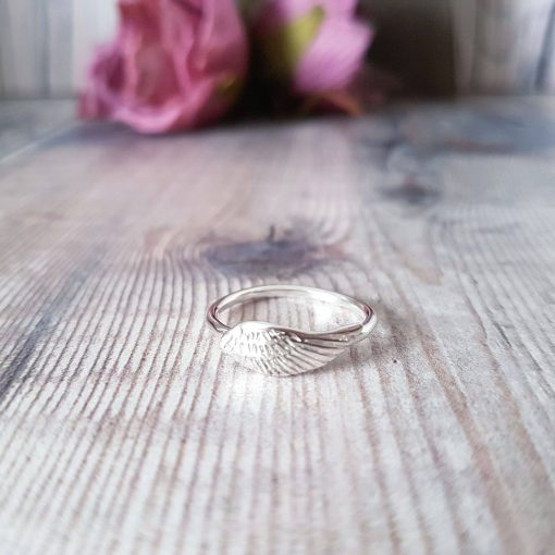 Angel Wing Stacking Ring