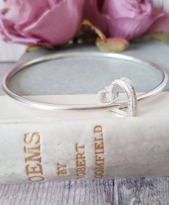 Melt My Heart Sterling Silver Bangle