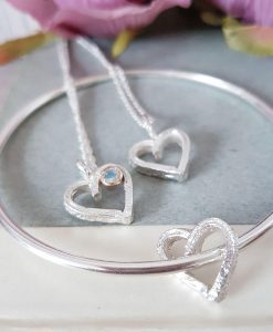 Melt My Heart Silver, 9ct Gold & Rainbow Moonstone Necklace - PREORDER