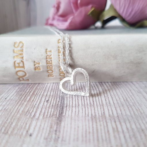 Melt My Heart Silver Necklace
