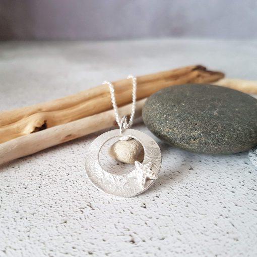 Handmade Sterling Silver Coastal Necklace
