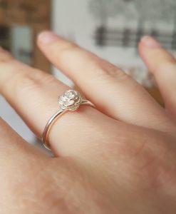 Sterling Silver Rose Stacking Ring