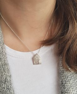 Handmade Sterling Silver Beach Hut Necklace