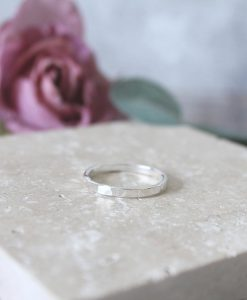 Sterling Silver Hammered Band