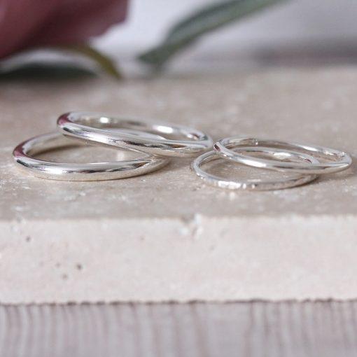 Chunky Stacking Ring Set